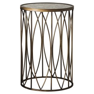 Barking Metal Side Table in Gold
