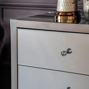Bath Mirrored Chest of Drawers in Si