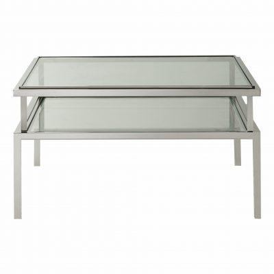Bellizzi Metal Coffee Table in Silver