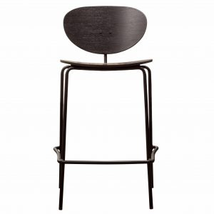 Bexley Birch Wood Bar Stool in Black (Set of 2) Image 2