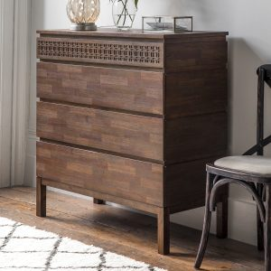 Boi Mango Wood Chest of Drawers in Brown Image 2