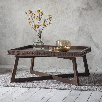 Boi Mango Wood Coffee Table in Brown