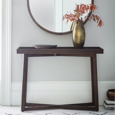 Boi Mango Wood Console Table in Brown