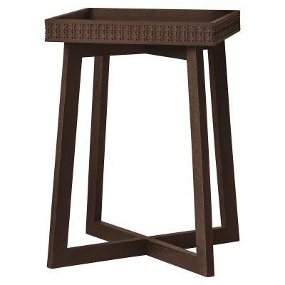 Boi Mango Wood Side Table - Brown