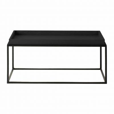 Bordan Wood Coffee Table in Black