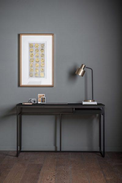 Bordan Wood Desk in Black