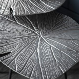 Burgess Metal Nest of 2 Tables in Silver