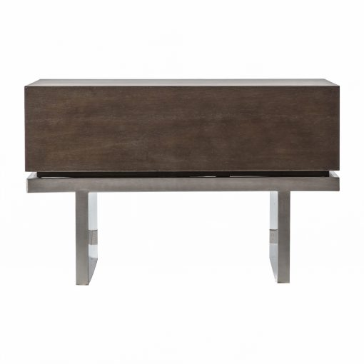 Churo Mindy Ash 1 Drawer Side Table in Brown