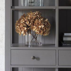 Dean Acacia Wood Bookcase in Grey