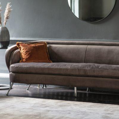 Desirea Fabric 3 Seater Sofa in Taupe