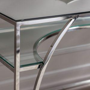 Dolly Metal Desk in Silver