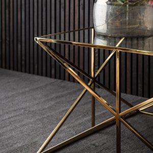 Emilia Metal Coffee Table in Gold Image 3