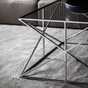 Emilia Metal Coffee Table in Silver Image 3