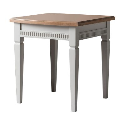 Emily Mahogany Side Table in Taupe
