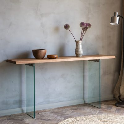Fern Light Wood Console Table