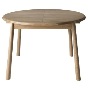 Finn 110cm-165cm Light Oak Extending Round Dining Table