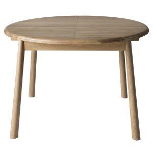 Finn 110cm-165cm Light Oak Extending Round Dining Table