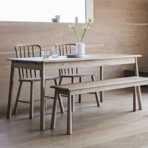 Finn 150cm-200cm Light Oak Extending Dining Table