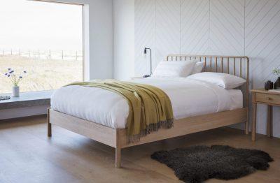 Finn Light Oak King Bed Frame