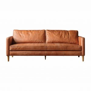 George Leather 2 Seater Sofa in Brown