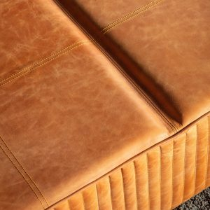 Guston Leather Coffee Table in Brown Image 3