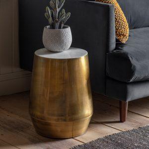Heath Metal Side Table in Brass
