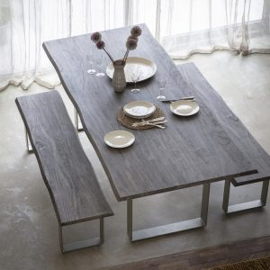 Hunter 240cm Dark Acacia Wood Dining Table