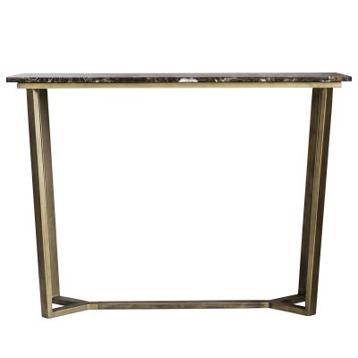 Julius Metal Console Table in Bronze