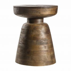 Kemley Mango Wood Side Table in Brown