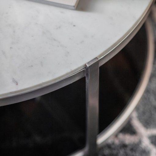 Kilve Metal Coffee Table in Silver Image 3