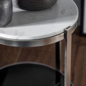 Kilve Metal Side Table in Silver