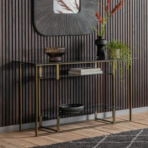 Kirton Metal Console Table in Gold