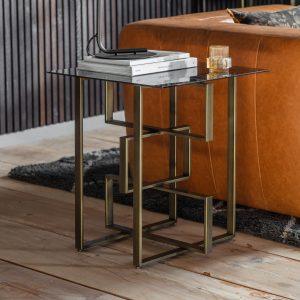 Kirton Metal Side Table in Bronze