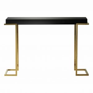 Lana Mirrored Console Table in Black Image 1