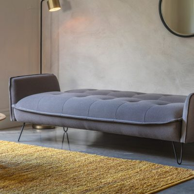 Langley Fabric 3 Seater Sofa Bed in Grey