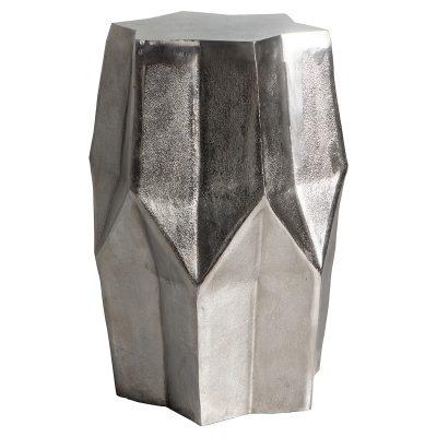 Leon Metal Side Table in Silver