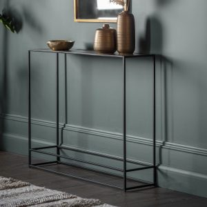 Madson Metal Console Table in Gold Image 2