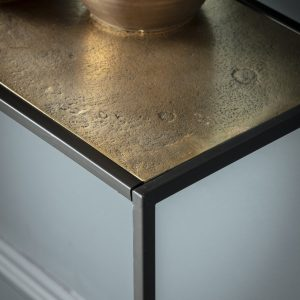 Madson Metal Console Table in Gold Image 3