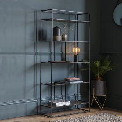 Madson Metal Display Unit in Gold