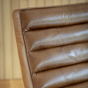 Meka Leather Lounger Chair in Brown