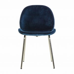 Mickey Velvet Dining Chair in Blue (Set of 2)