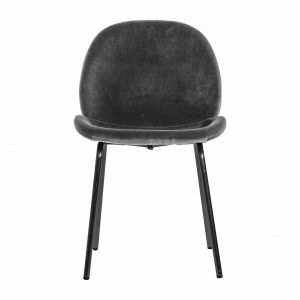 Mickey Velvet Dining Chair in Grey (Set of 2)