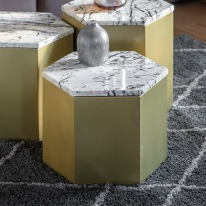 Milly 35cm Metal Side Table in Gold