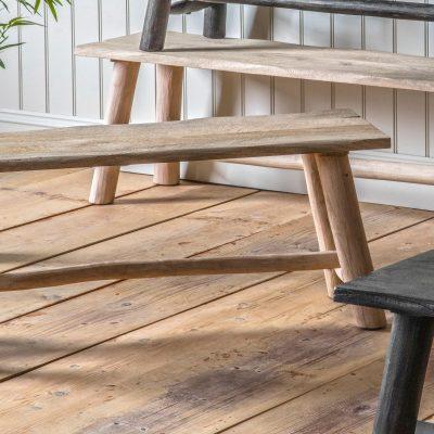 Montana 110cm Light Rustic Mango Wood Dining Bench