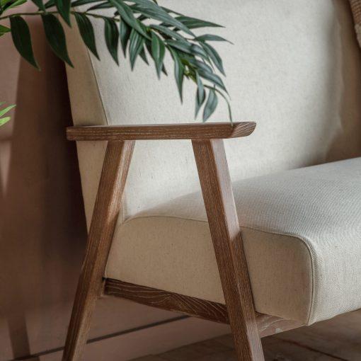 Newland Fabric 2 Seater Sofa in Grey