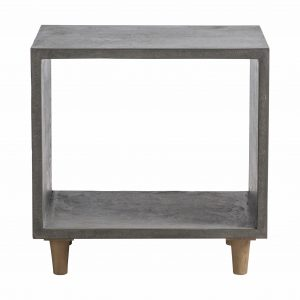 Oslo Resin Side Table in Grey