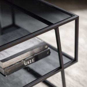 Pinner Glass Coffee Table in Black Image 3