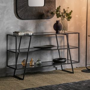 Pinner Metal Console Table in Black Image 2