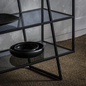 Pinner Metal Console Table in Black Image 3