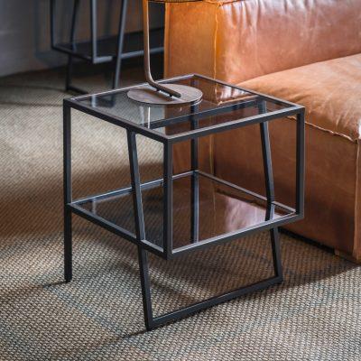 Pinner Metal Side Table in Black